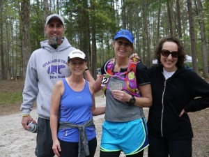 I could not have finished this race without this great group of people, Carrie, Brad and Paula!